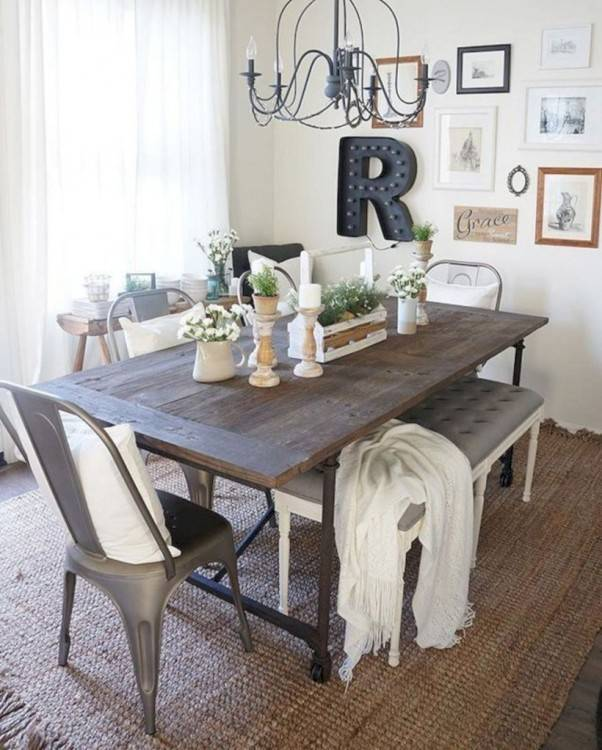 dining room table decor farmhouse home furniture farmhouse table bench  dining and
