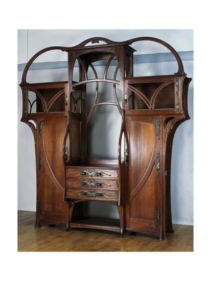 Picture of Spanish Art Nouveau Vitrine from Oak Dining Room Suite