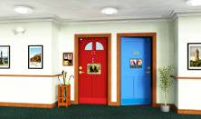 People with dementia can have real problems remembering where their room is  in a care home where all the bedroom doors look the same and being unable  to