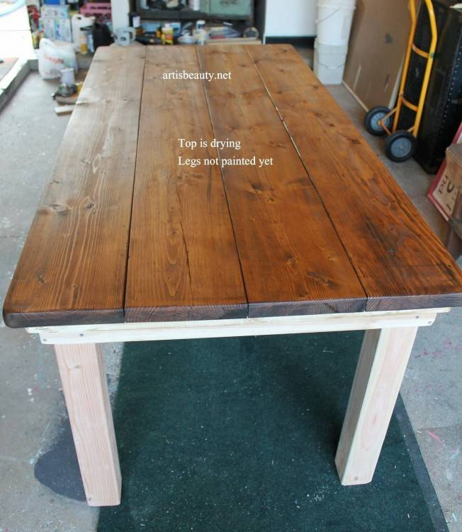 rustic dining table plans domesticated engineers free farmhouse