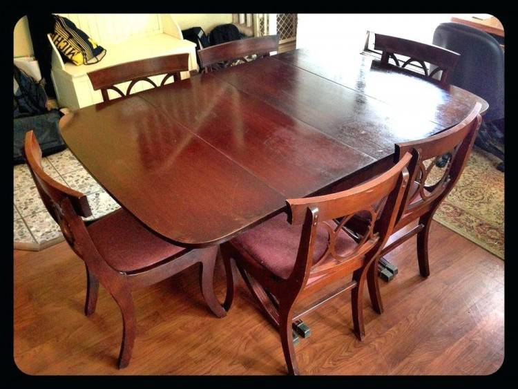 Antique Vintage Mahogany Dining Table And Chairs Queen Anne Set 5  Chairs photo 1