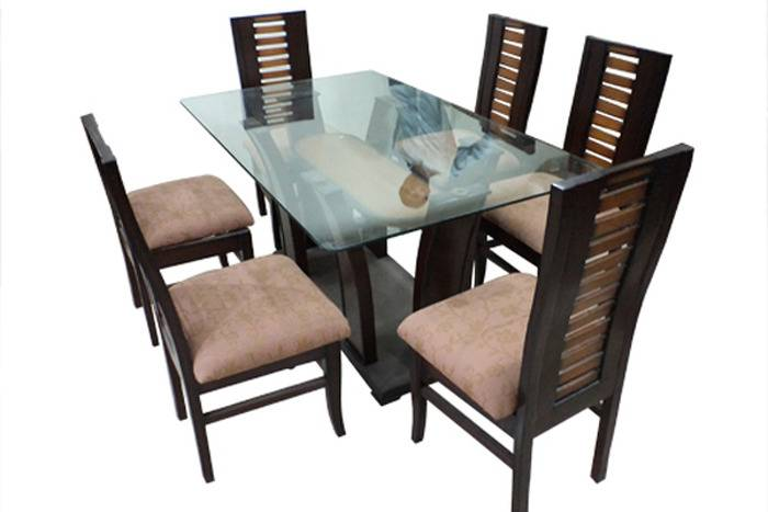 Solid Wood Indian Sheesham Dining Table and 4 Chairs