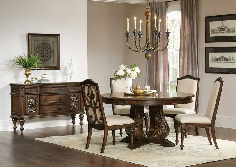 Utopia Round Dining Table with Philadelphia Chairs (Grey)