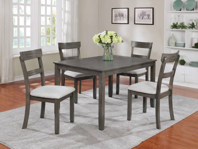 dark dining room set brown table with gray chairs 8 piece contemporary grey  living walnut l