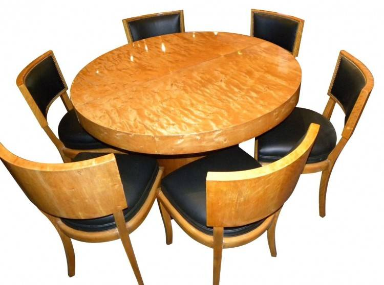 Beautiful dining table on two powerful curved pedestals