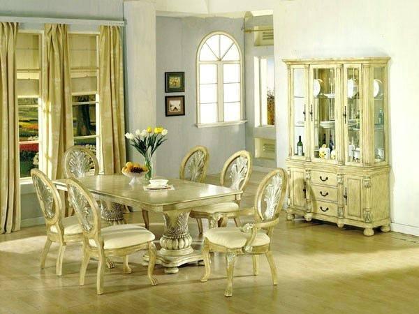 antique white round dining table set unique room and oak pedestal
