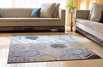 Ultimate Shaggy Contemporary Moroccan Trellis Design Grey 8 ft