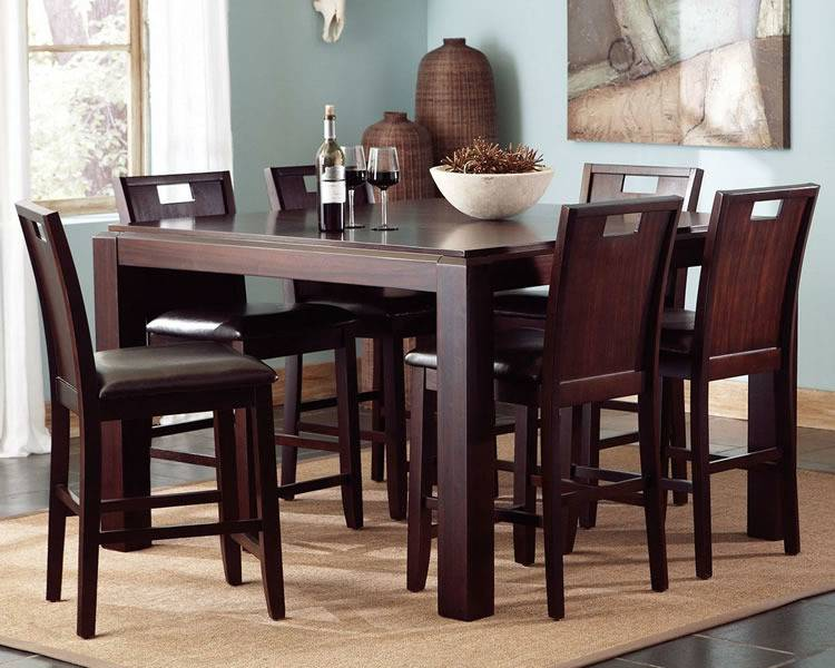 Fullsize of Sunshiny Round Counter Height Table Landon Chocolate Set Room  Sets Intended Round Counter Height