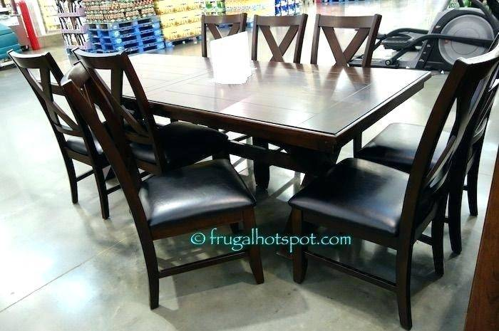 Full Size of 9 Piece Dining Room Set Costco With Leaf Buffet Buy  Rectangular Suite Likable