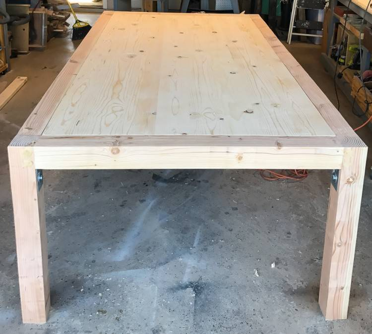 DIY Dining room table with 2×8 boards (4