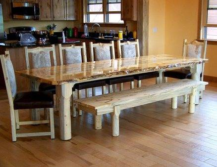 We now make  custom beetle kill pine stump tables
