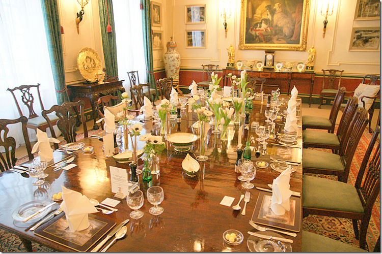 The dining room at Clarence House
