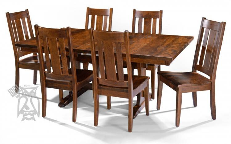 built in dining room table 5 piece set table chairs in antique white with  wood stain