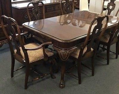 Signed Batesville walnut dining room suite